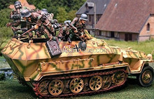 Soldiers D-Day Normandy German Hanomag with Figure 2 Piece Set Collectors Showcase Toy Soldiers Painted Metal Resin