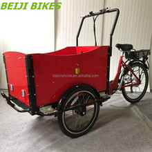 Aluminium alloy frame three wheel electric bicycle for mom and baby