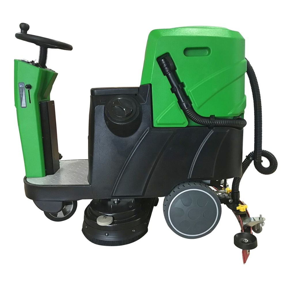 MLEE740SS Water Tank Two Brushes Cleaning Machine Rotary Ride On Electric Floor Scrubber Dryer