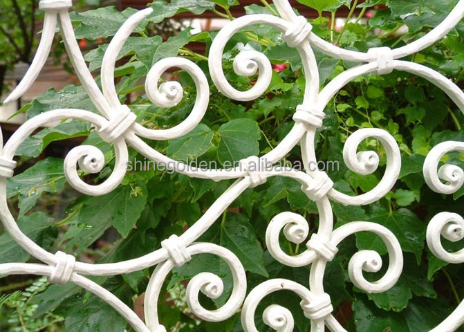 white wrought iron fence ferforje korkuluk