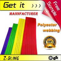 Z-Sling heavy duty color code polyester Webbing Sling Material CE&TUV Certificated