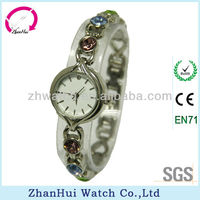 2014 Fashion noble crystal British charm bracelet lady elegant pretty vogue watches made in China samrt watch factory with CE