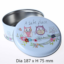 recycled material wholesale price egg roll use empty package gift tin box