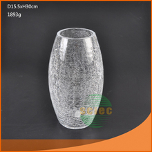 wholesale different types glass vase clear glass vase