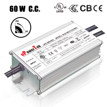 Waterproof 60W 0-10v dimmable constant current LED driver with 350mA 500ma 700mA 1050mA output