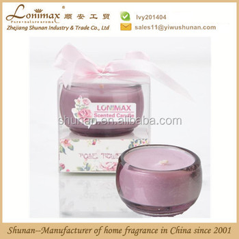 pure nature aroma/ scented candle with rose aroma