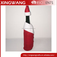 Big discount fabric bottle cover xmas decoration christmas wine bottle cover