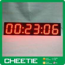 6 inch 6 digits one sided display large outdoor led digital clock
