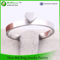 China supplier Smooth Heart Shape Ring Of Turkish Fashion Jewelry