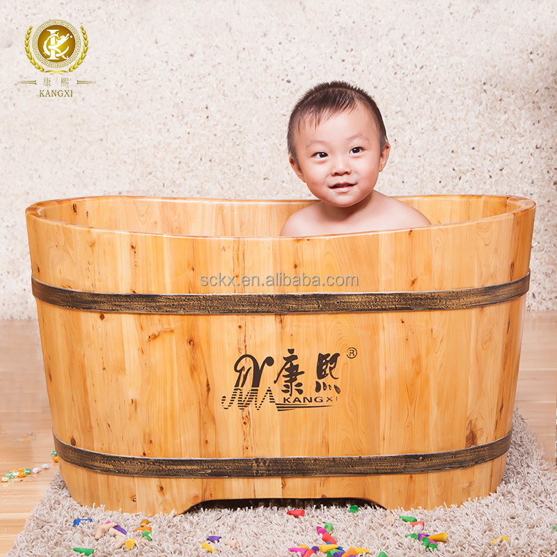 Portable Indoor Wood Baby Bath Crock For Sale Baby Claw Foot Baby Bath Tub