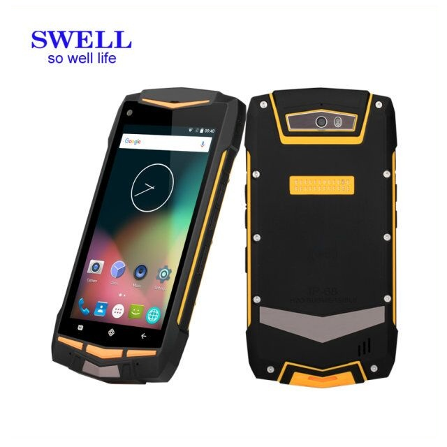 triple sim cards triple standby mobile phone Rugged smartphone nfc android pda rfid reader