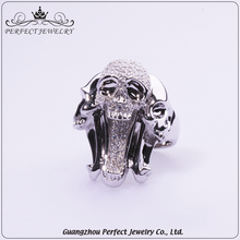Best selling products latest finger ring designs skull silver ring