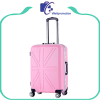 Hard Shell Aluminum Frame Flag Suitcase