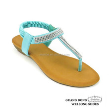 factory lowest price high quality thong t-strap ankle elastic shoes woman 2015 woman sandal