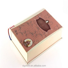 factory sells book shape metal box for cigar cigarette or tea tin can