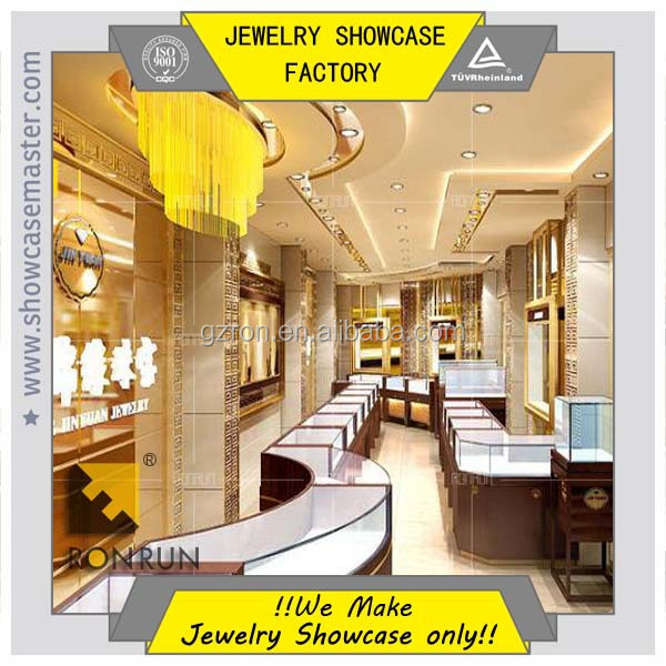 Decorations for jewelry store,display showcase and counter for jewelry shop furniture