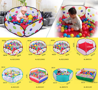 ABST Polyester Foldable Ball Pit Pool for Outdoor Indoor Children Kids Toy Tent Basketball Hoop Playset