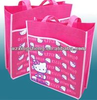 2014 Cheapest fashion promotion non woven shopping bag for bag with led lights
