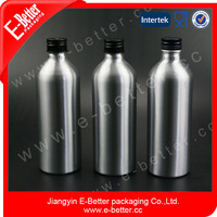 400ml Aluminum soft juice drinking bottles with plastic theft-proof cap