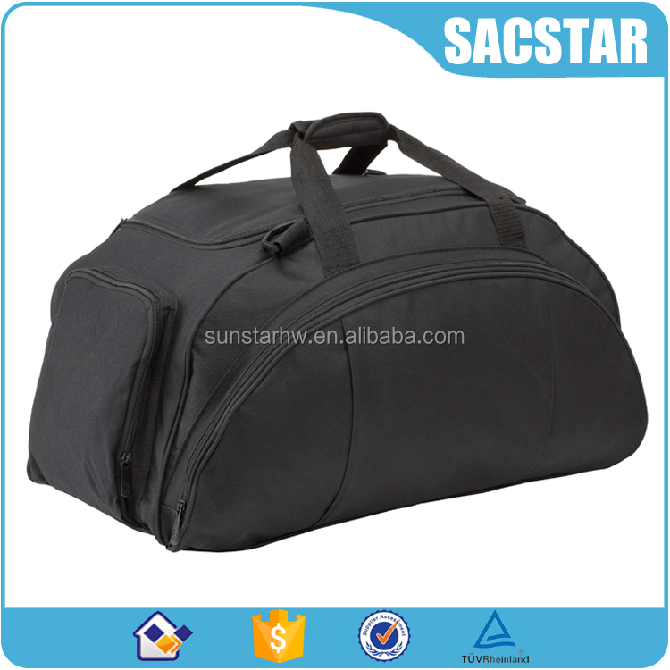 2016 Top quality 600x600D travel duffel bag with side shoe compartment