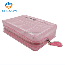 My clear fashion travel pvc zip cosmetic bag/bags with zipper for make up brush