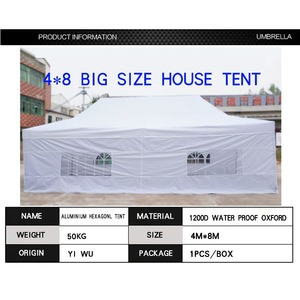 big size firm outdoor steel folding house gazebo tent 4x8 for sale philippines
