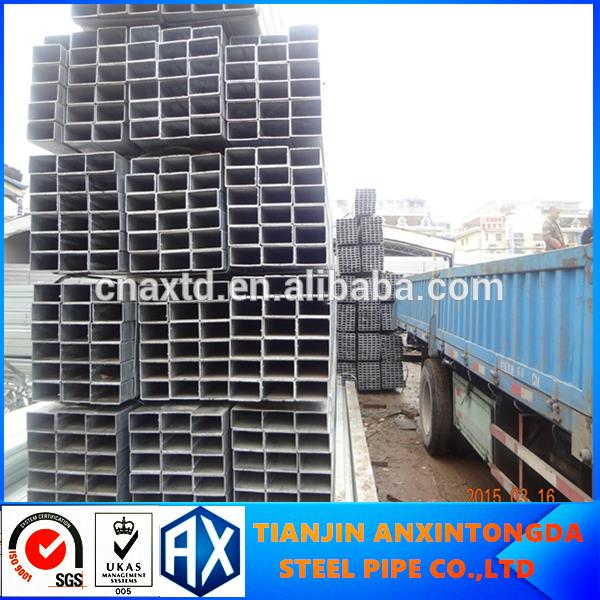 2016 hot sale 2.5 inch x 2.5 inch square tube unit weight steel square pipe of golden supplier
