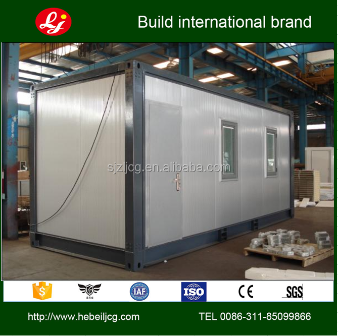 folding 20ft prebuilt container house/ foldable contianer home/ folding modern contain