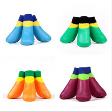 Pet products soft rubber dog shoes outdoor waterproof dog socks