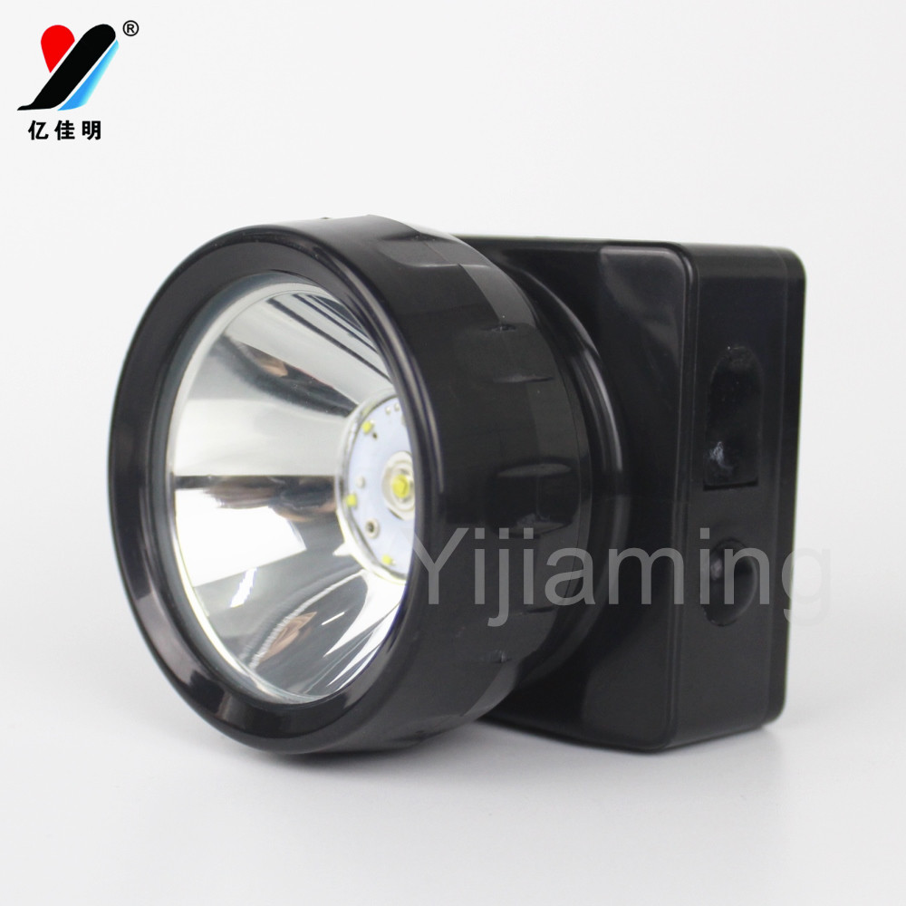 Headlight 6+1LED Rechargeable LED Headlamp Black Miner Safety helmet Lamp YJM-4625A