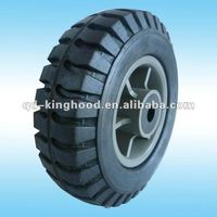 "Solid rubber tires with rims 8""x2.5"""