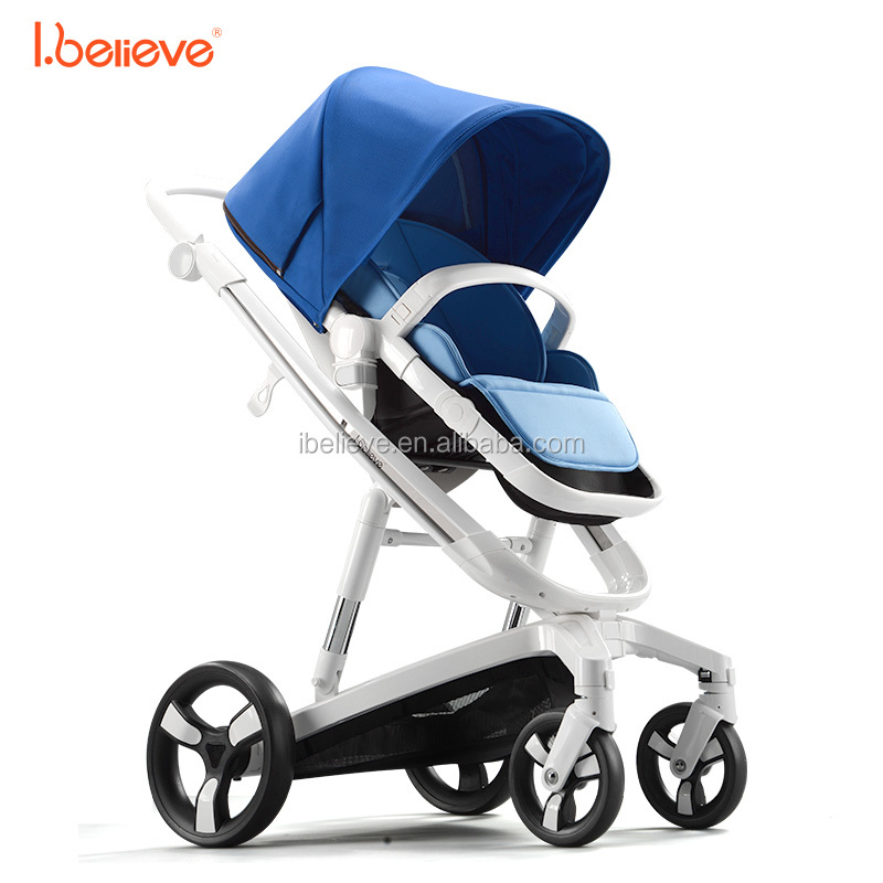 luxury safety baby stroller /high landscape withcotton pad thick future china baby pushchair/nursing cover