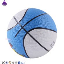 Lenwave brand custom printed cheap rubber ball wholesale mini basketball