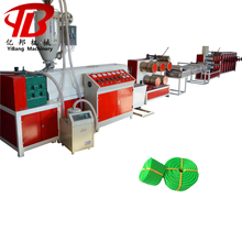 Less expensive pp round yarn flat wire rope making machine with CE certificate