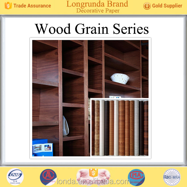 Longrunda Furniture surface Colorful Wood grain Bulk Wholesale decorative decal paper