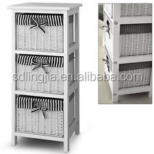 3 Drawer Storage cabinet with 3 baskets - Shelf - Storage unit - Wicker baskets