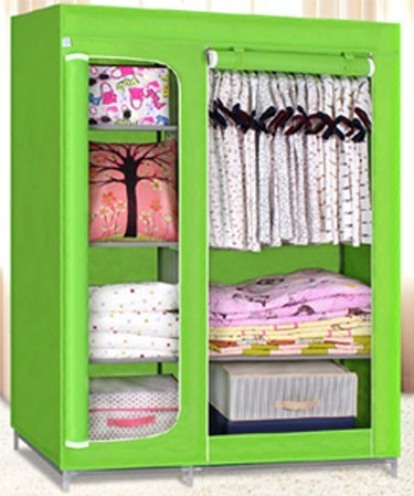 Metal and non-woven shoe rack portable shoe rack