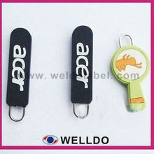 silicone zipper puller with your logo and text