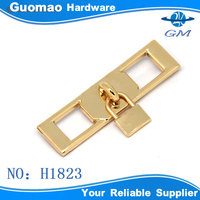 Long square with mini lock Zinc alloy handbag clasp