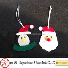 felt lovely Santa Claus and snowman hangings for Christmas tree decoration