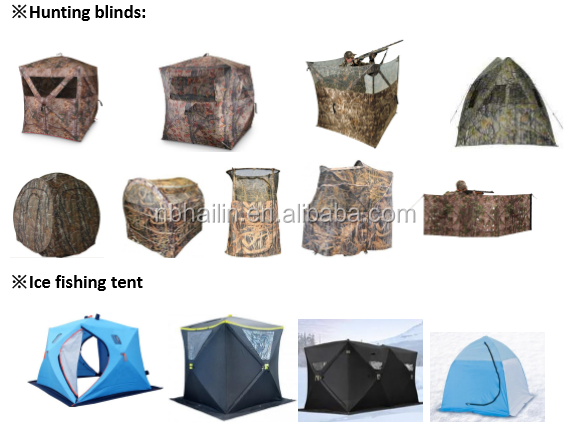 Portable Hunting Blind Pop Up Ground Camo Weather Resistant Hunting tent