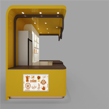 3D & layout design for the pineapple ice cream cone kiosk and orange juice kiosk used in shopping mall