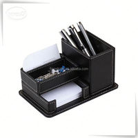 handmade desktop decorative desk fancy custom leather pen holder