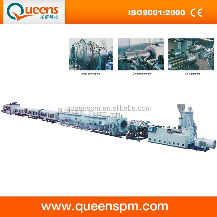 PE Pipe Plastic Extruder Machine / Polyethylene Gas Pipe Production Line