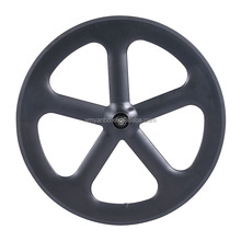 700C carbon fiber 5 spoke bicycle wheel for road/track bike