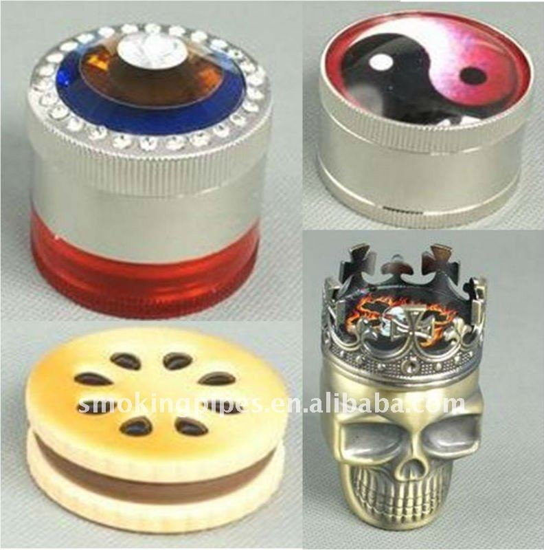 3 parts zinc alloy and plastic weed grinder