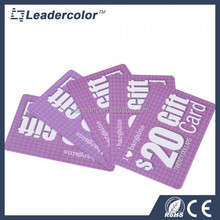 Magnetic Strip PVC Gift card contact card with chip