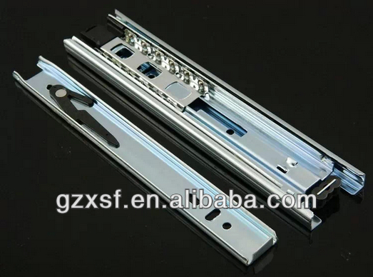 45mm 3 folds ball bearing dotted drawer slide