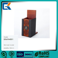 Hot selling high quality leather wooden TV remote controller holder/racks