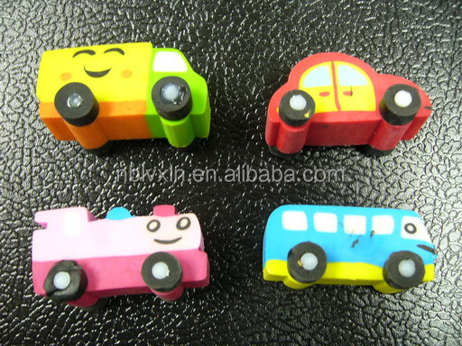 Custom Car Shaped Plastic 3D Eraser